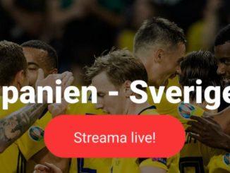 Sverige Spanien på TV
